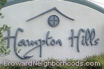 sign in front of Hampton Hills in Tamarac