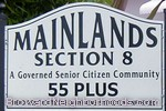 sign in front of Mainlands section 8 in Tamarac