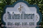 sign in front of The Greens of Inverrary in Lauderhill