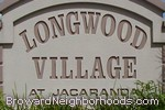 sign in front of Longwood Village at Jacaranda in Plantation